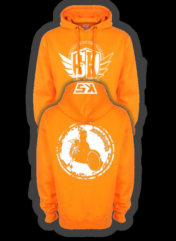 STAHLKRAD BURN Kapuzenpullover orange
