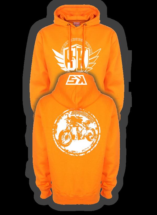 STAHLKRAD SCRAMBLER Kapuzenpullover orange