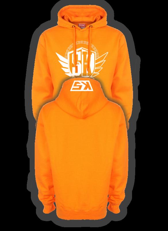 STAHLKRAD WAPPEN Kapuzenpullover orange/weiß