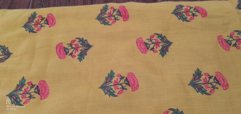 Sanganeri Print Cotton Suit without Dupatta (5 Mtr)