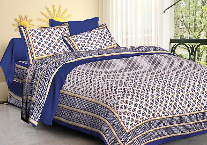 Double Bedsheet with two pillow cover
