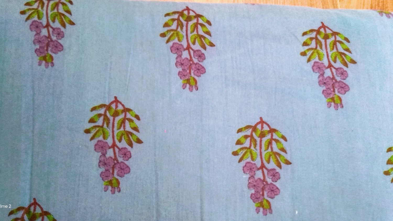 ​Sanganeri Print Cotton fabric all Over Unstiched suit fabric without dupatta
