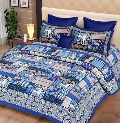 Double Bedsheets with Two Pillow cover