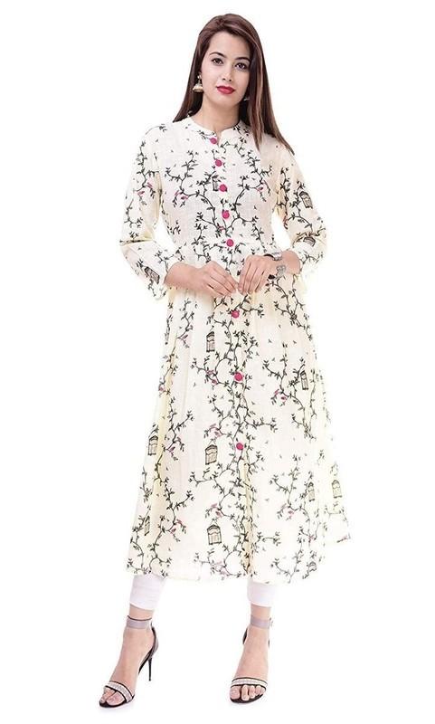 Cotton Floral Printed Kurti