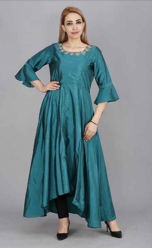 ​ Silk Embroidery Gown Kurta
