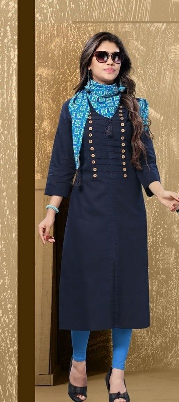 Cotton Kurti With Scarf