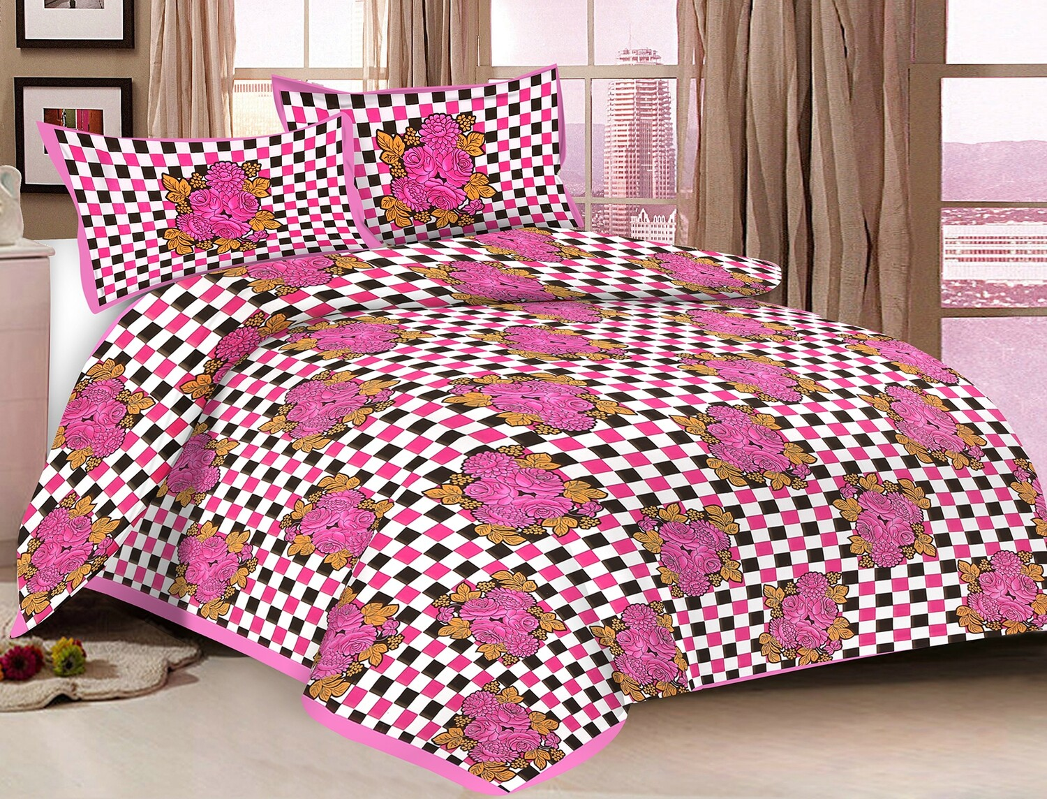 2003  Double Bedsheets With Two Pillow Cover