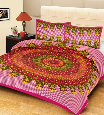 2007  Double Bedsheets With Two Pillow Cover