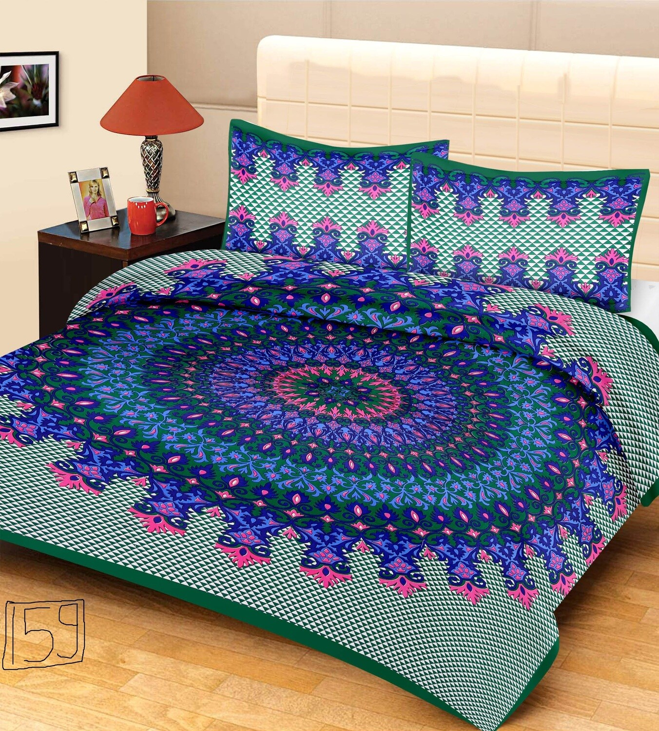 2008  Double Bedsheets With Two Pillow Cover