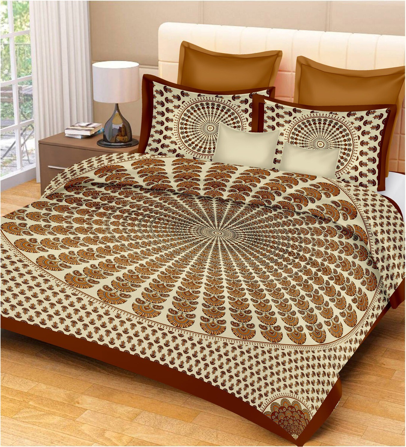 2009  Double Bedsheets With Two Pillow Cover