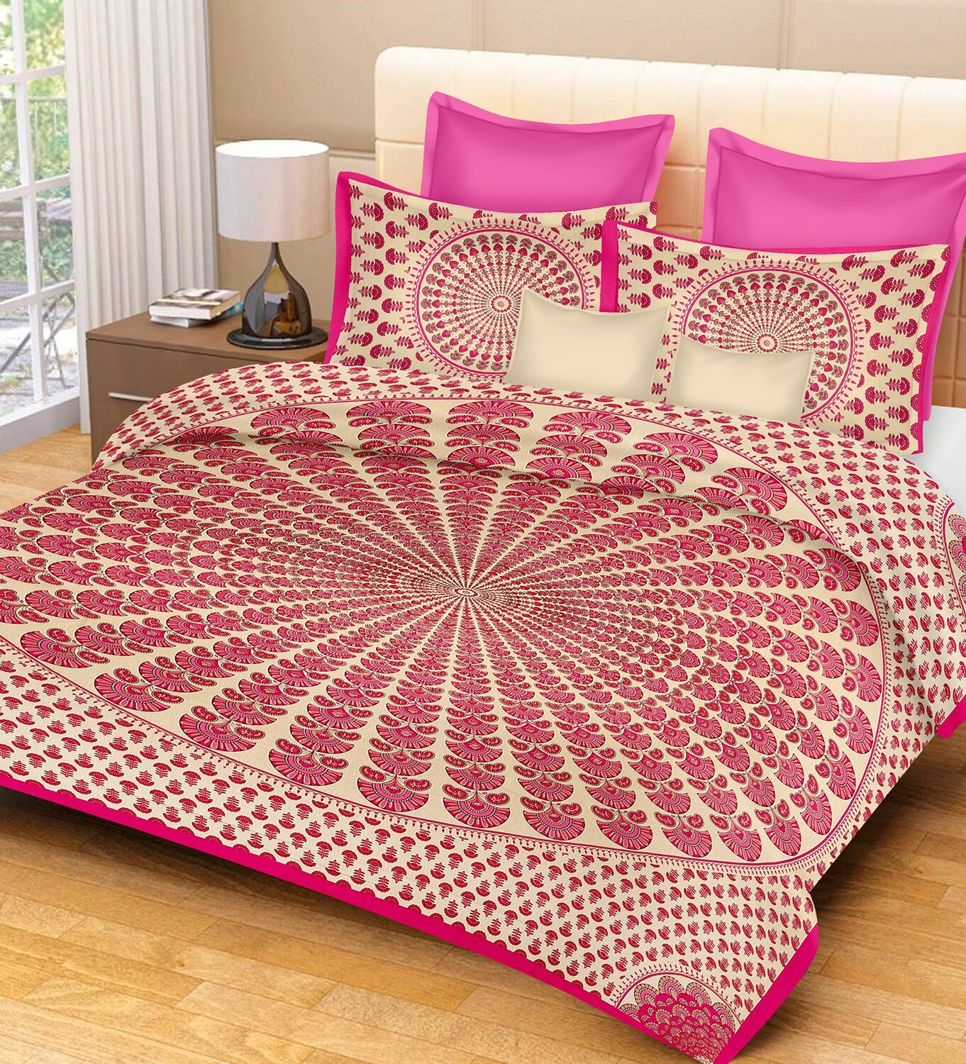 2010  Double Bedsheets With Two Pillow Cover