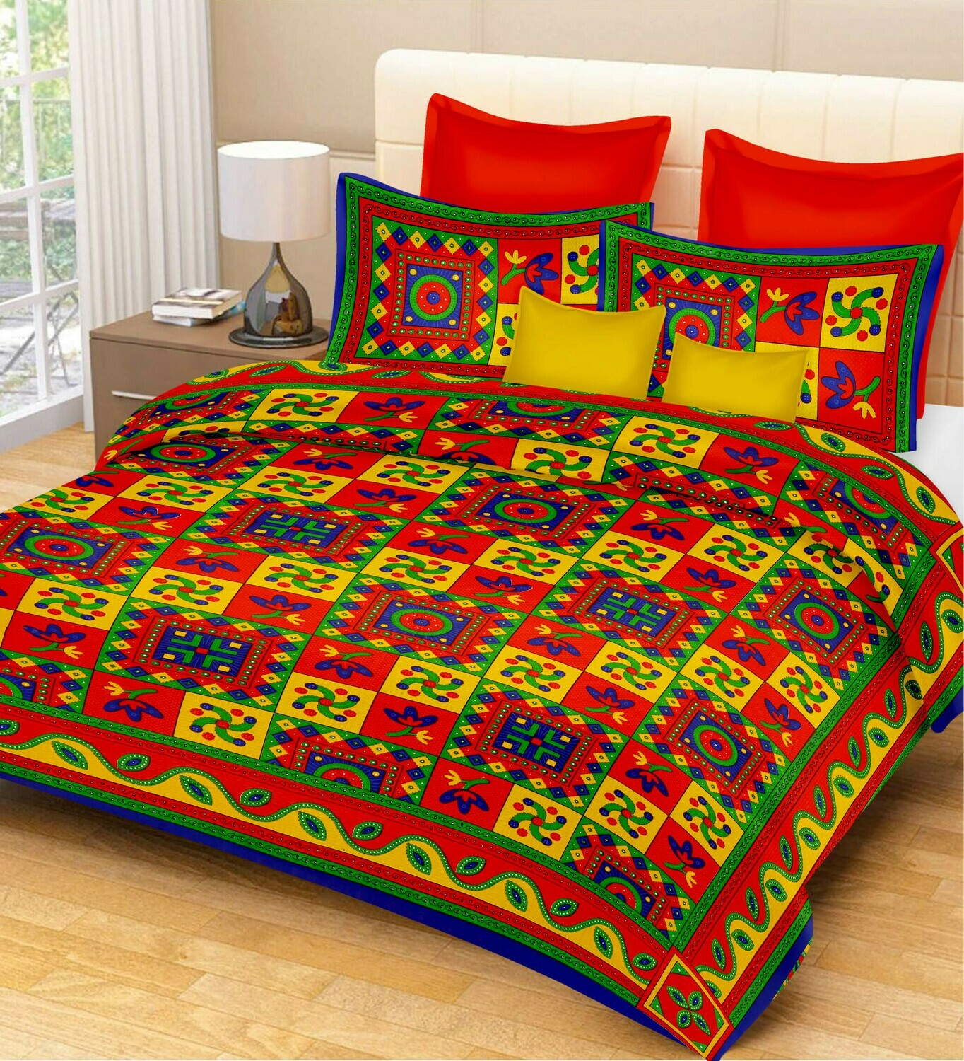 2011  Double Bedsheets With Two Pillow Cover