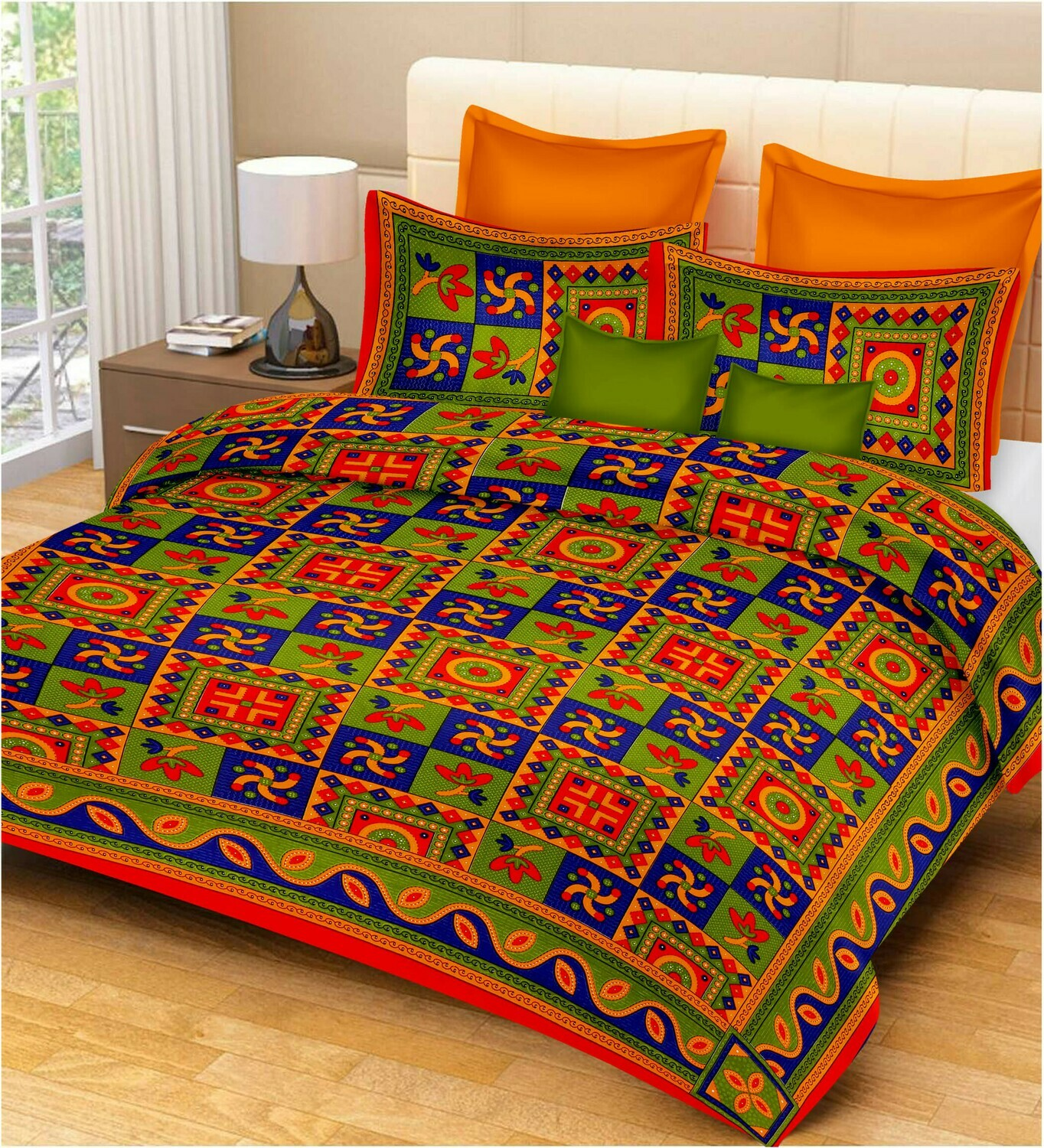 2013  Double Bedsheets With Two Pillow Cover
