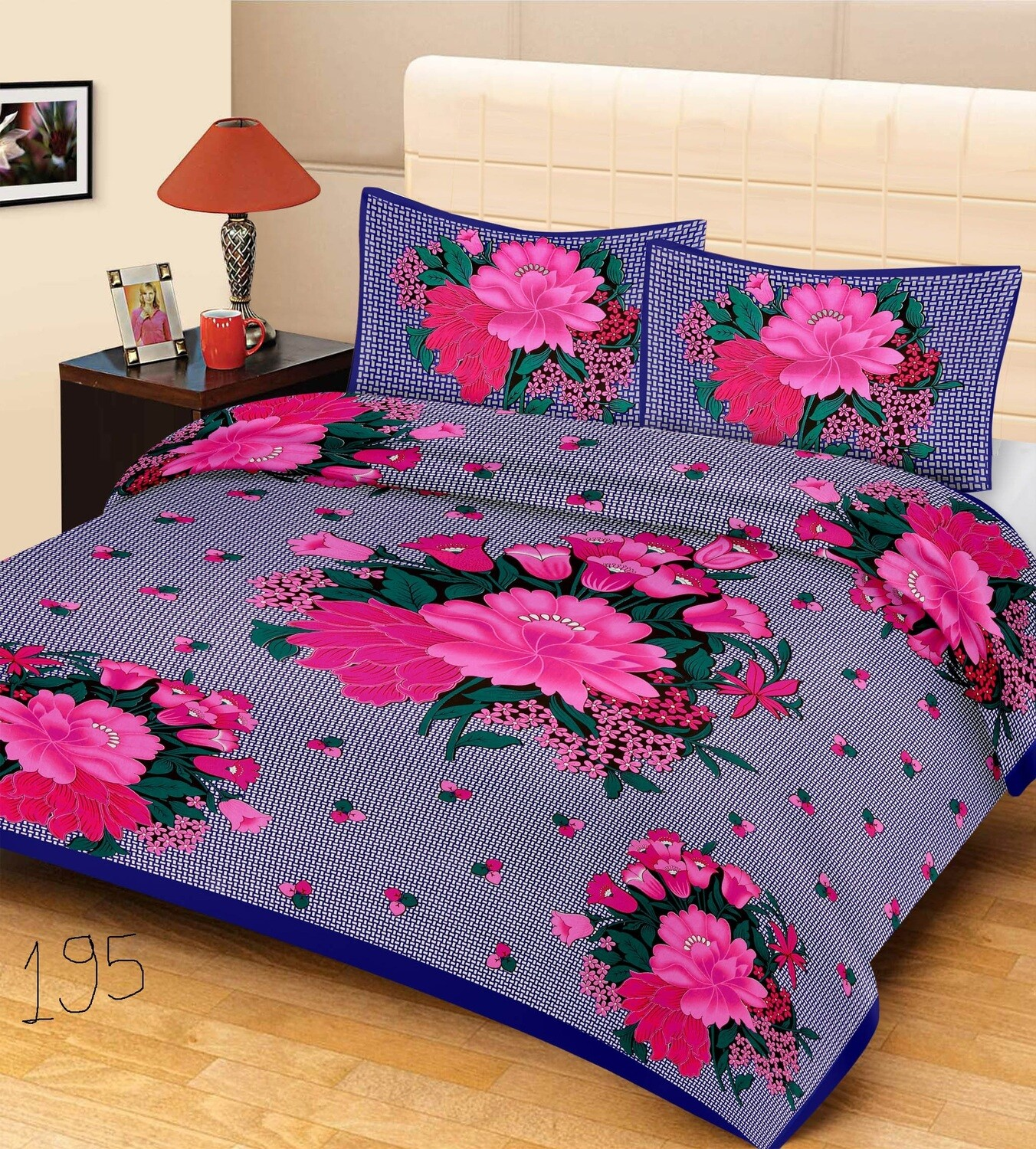 2014  Double Bedsheets With Two Pillow Cover