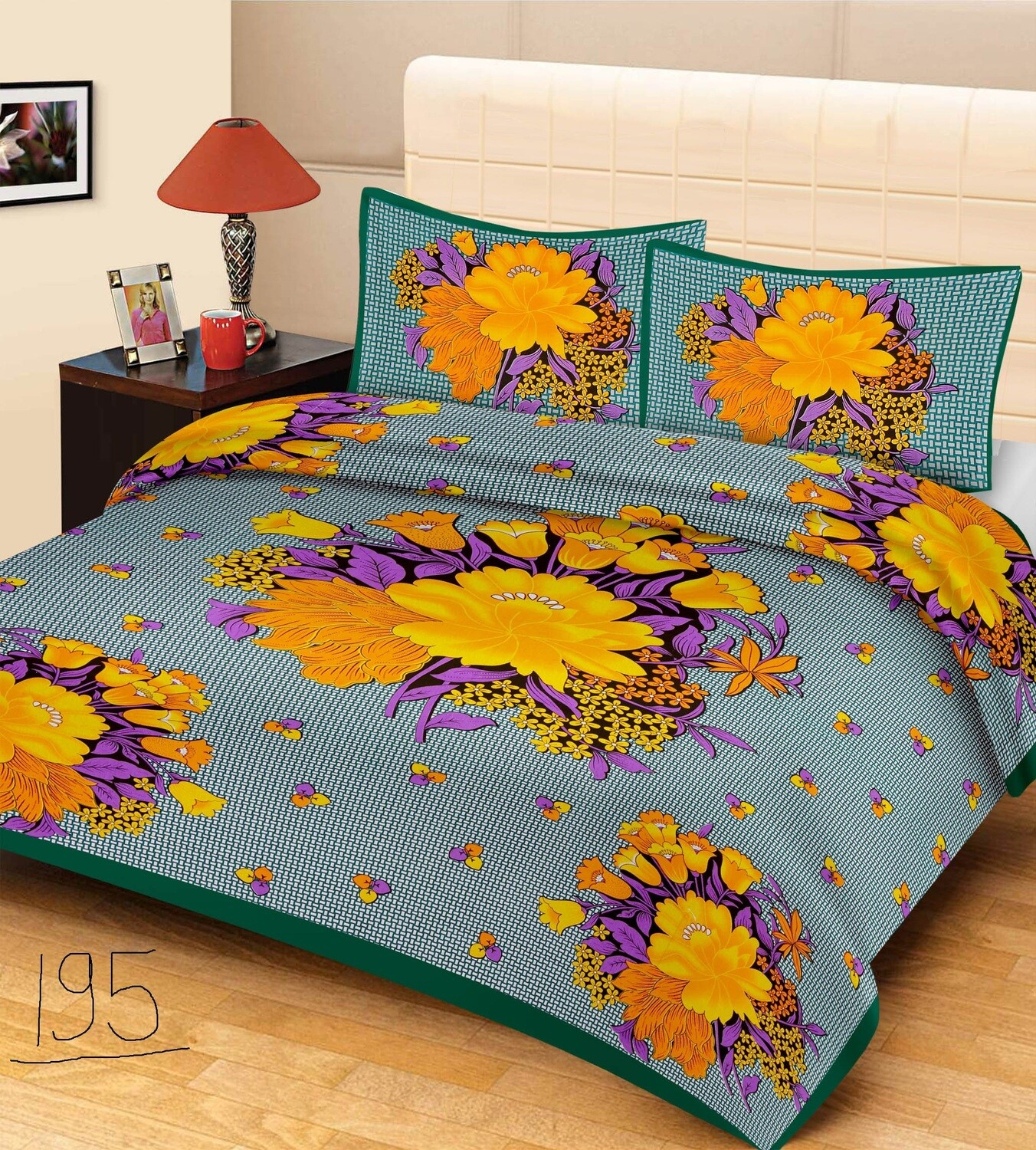 2015  Double Bedsheets With Two Pillow Cover