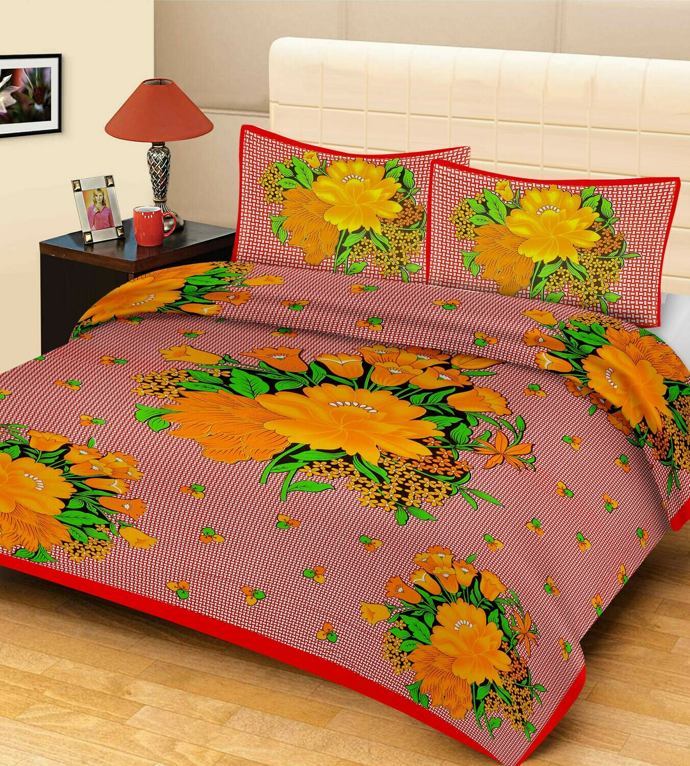 2016  Double Bedsheets With Two Pillow Cover