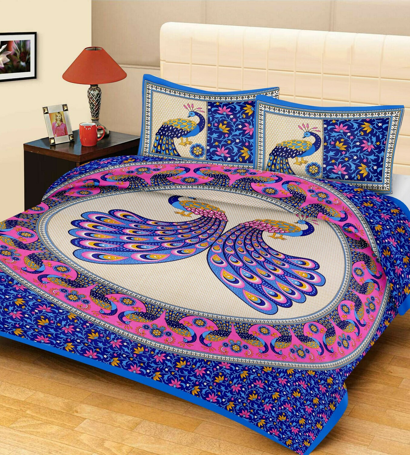 2017  Double Bedsheets With Two Pillow Cover