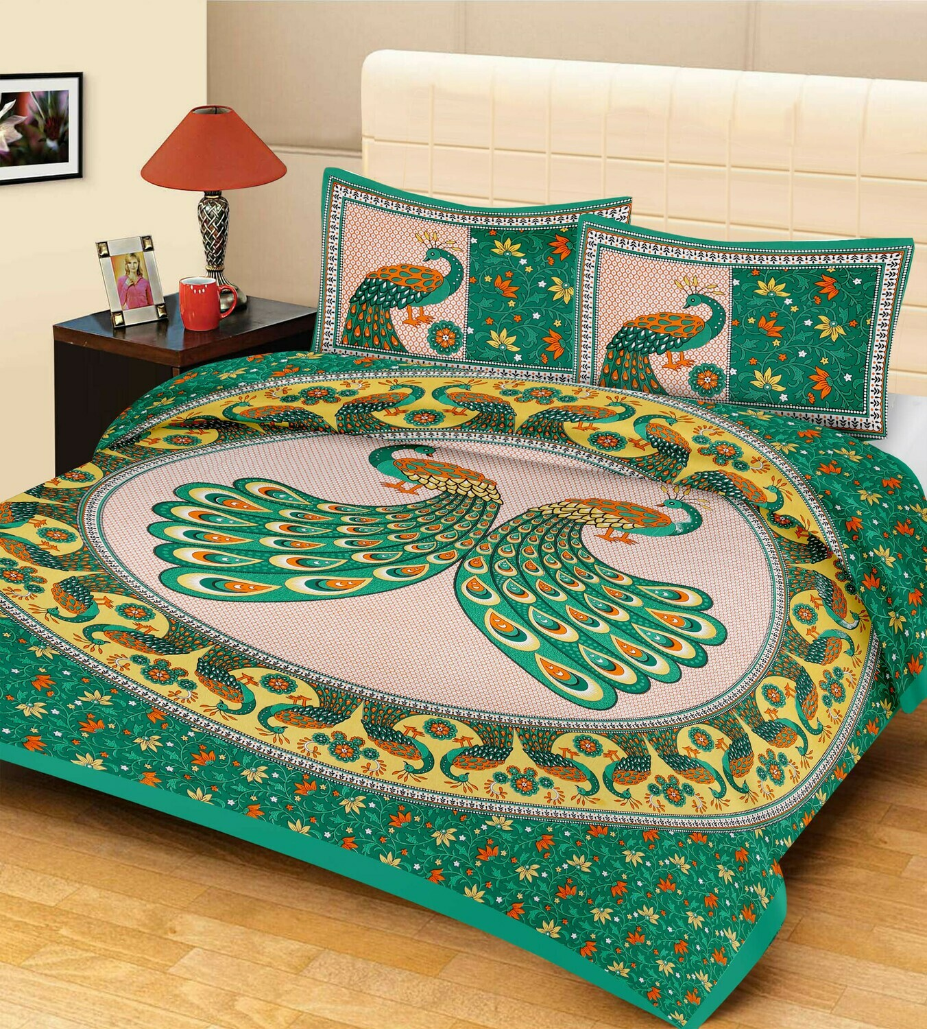2019  Double Bedsheets With Two Pillow Cover