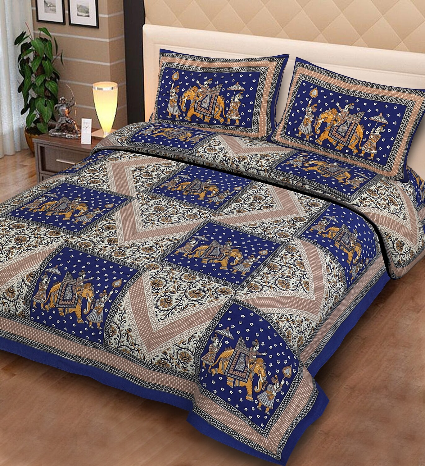 2020  Double Bedsheets With Two Pillow Cover