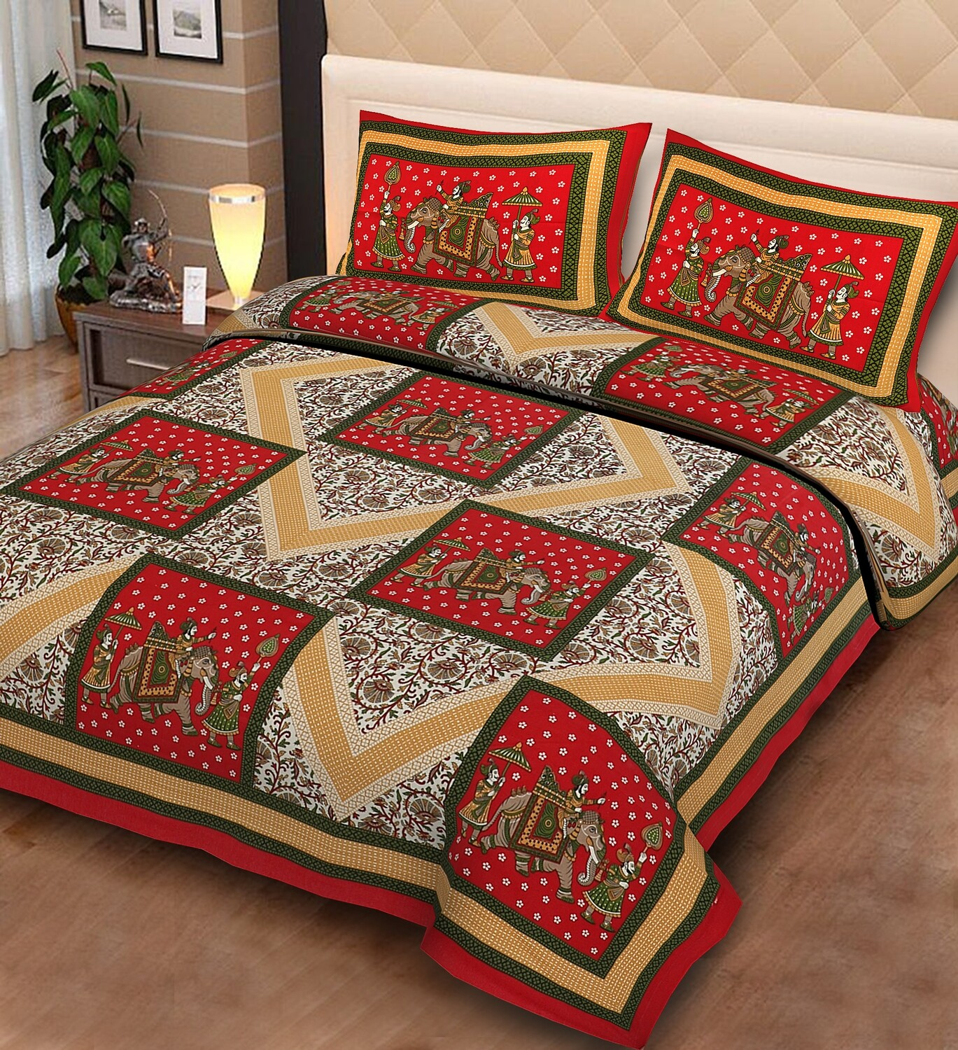 2022  Double Bedsheets With Two Pillow Cover