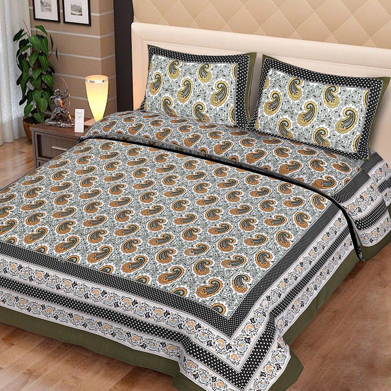 2024  Double Bedsheets With Two Pillow Cover