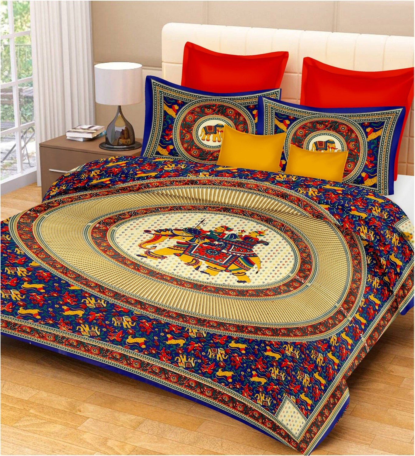 2029  Double Bedsheets With Two Pillow Cover