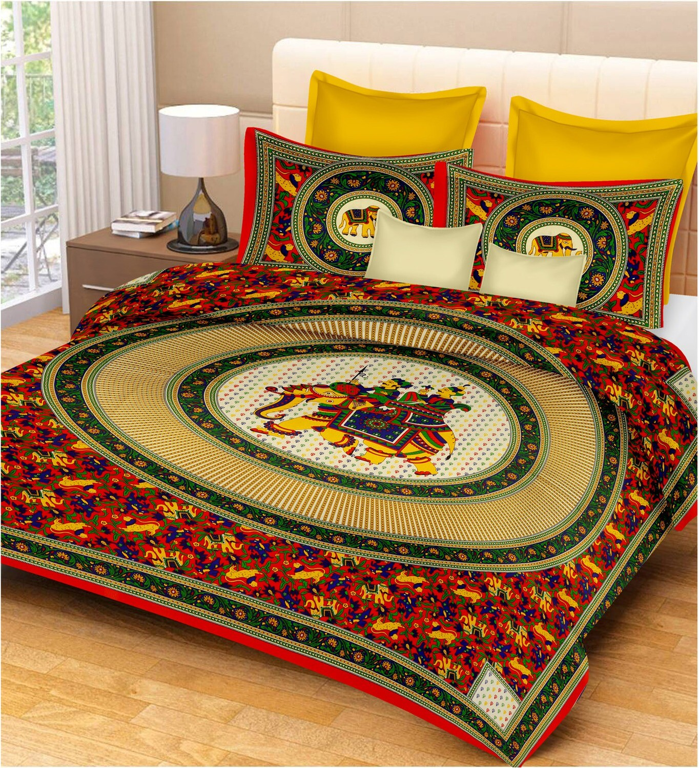 2031  Double Bedsheets With Two Pillow Cover