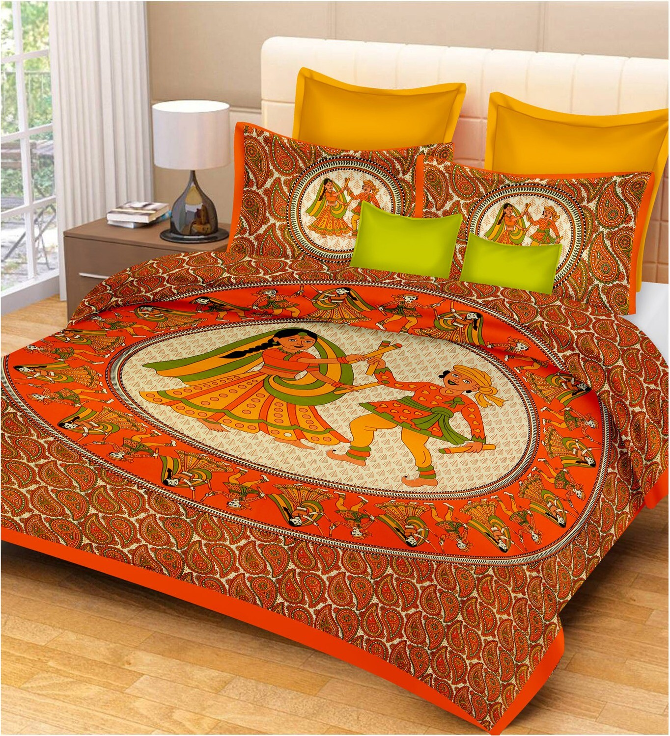 2036  Double Bedsheets With Two Pillow Cover