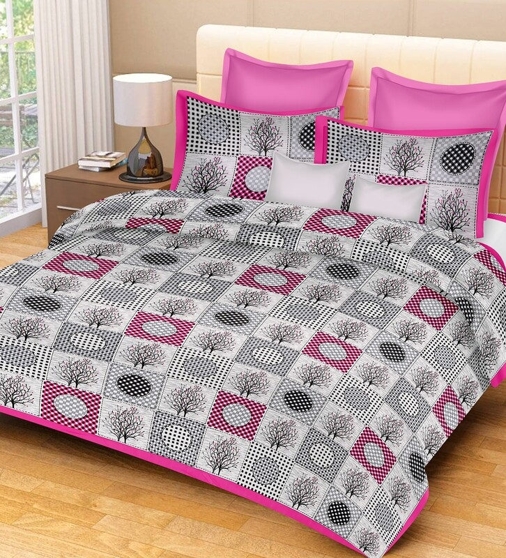 2046  Double Bedsheets With Two Pillow Cover