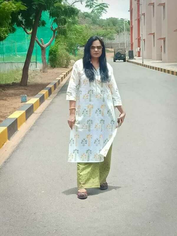 Cotton Printed Long Kurti with Palazoo