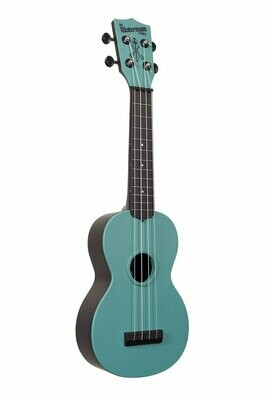 Glow-in-the-Dark Aqua Matte Soprano Waterman Ukulele