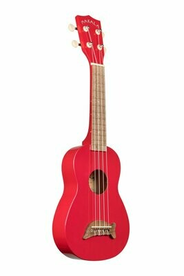 Kala Candy Apple Red Soprano Dolphin Ukulele