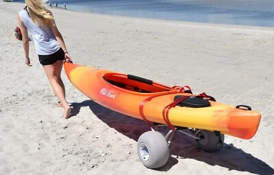 Malone Clipper Universal Kayak Cart (with Balloon Beach Wheels)