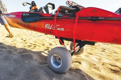 Malone WideTrak ATB Large Kayak/Canoe Cart (with Balloon Beach Wheels)