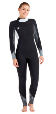 Body Glove Women's Black Stellar Back Zip Fullsuit 3/2mm
