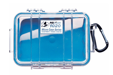 Pelican 1020 Micro Case Clear with Blue Liner