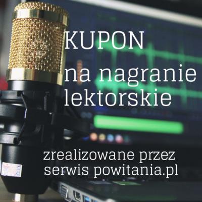 Nagranie audiobooka w wykonaniu lektora Dariusz - Kupon