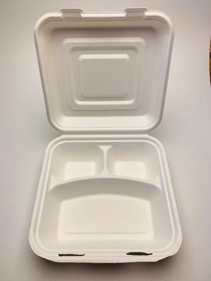 3-vaks menubox wit 25x25x8cm, verpakt per 50 stuks