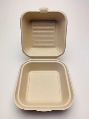 Hamburgerbox bruin 150x150x84mm, verpakt per 500 stuks