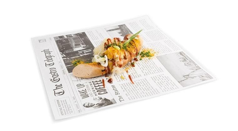 "Vetvrij papier ""Krant"" 300x300mm, 300 stuks"