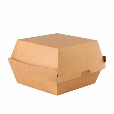 Kraftpapieren hamburgerbox 12cm, 50 stuks