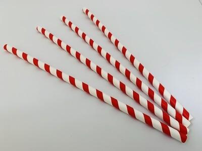 Rietjes 8x240mm rood/wit