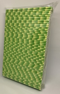 Premium rietjes 6x200mm bamboe groen, verpakt per 500 stuks