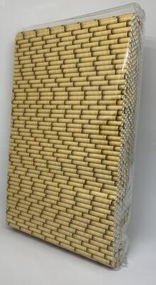 Premium rietjes 6x200mm bamboe geel, verpakt per 500 stuks
