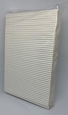 Premium rietjes 6x200mm wit, verpakt per 500 stuks