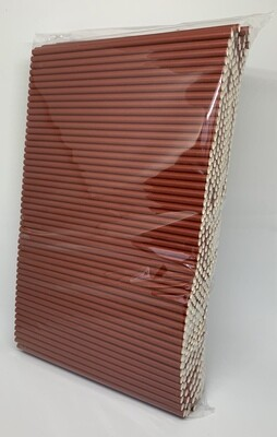 Premium rietjes 6x200mm bordeaux rood, verpakt per 500 stuks