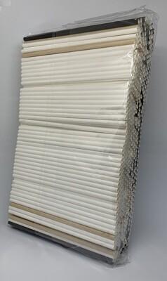 Premium rietjes 6x200mm zwart, wit, kraft mix assortiment, verpakt per 500 stuks