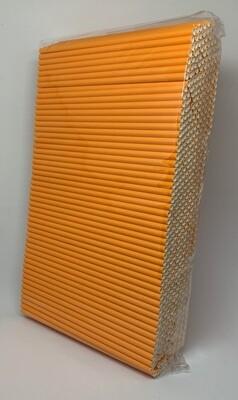 Premium rietjes 6x200mm oranje, verpakt per 500 stuks