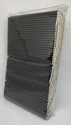 Premium rietjes 6x200mm zwart, verpakt per 500 stuks