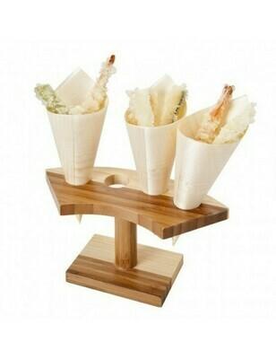Bamboe conehouder 4-stand Verpakt per 1 stuk